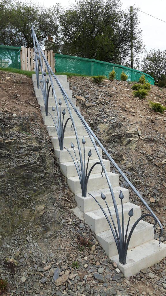 Stylised plant form handrail