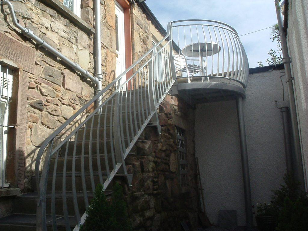 Balcony and handrail