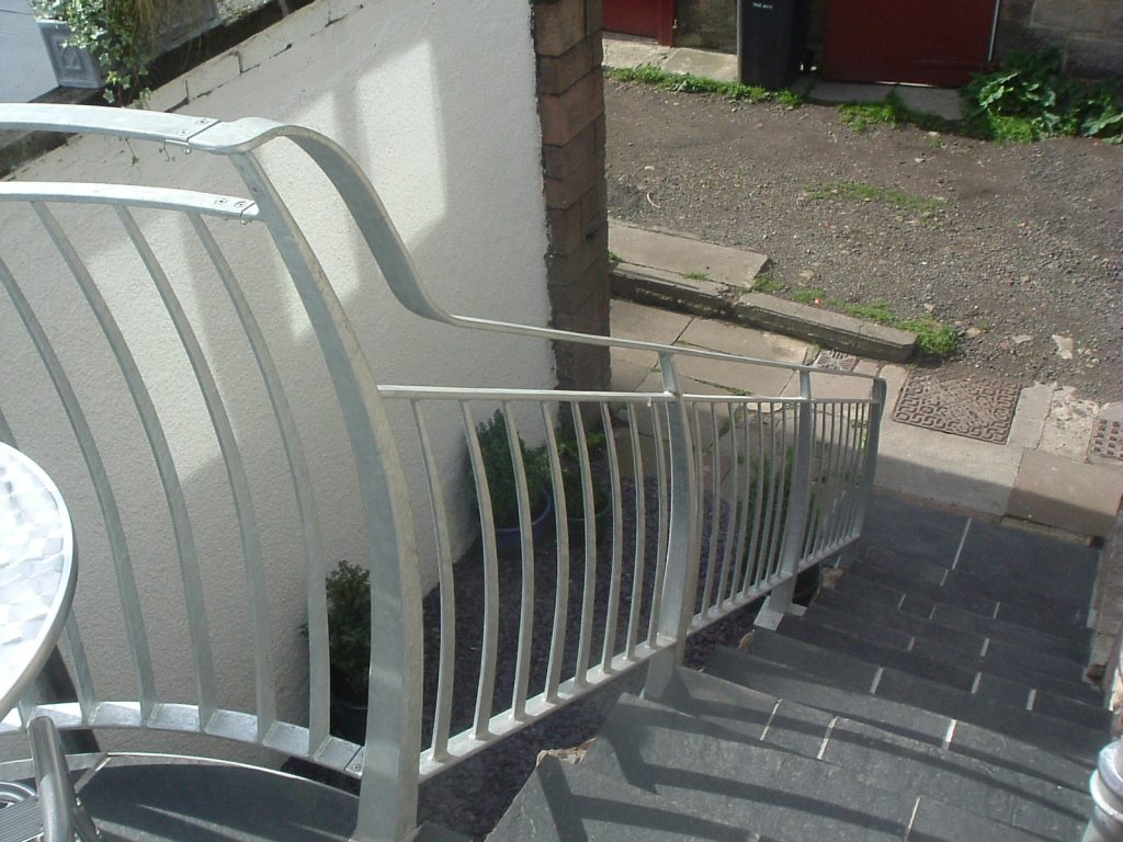 Balcony and handrail detail