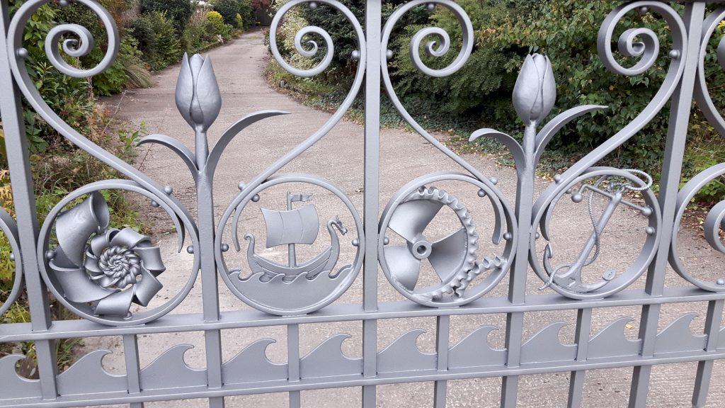 Bowers gate motif panels