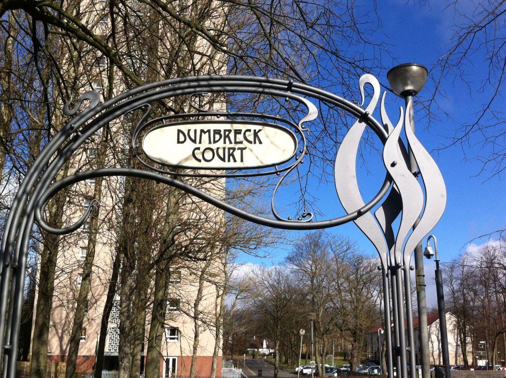 Dumbreck Court detail