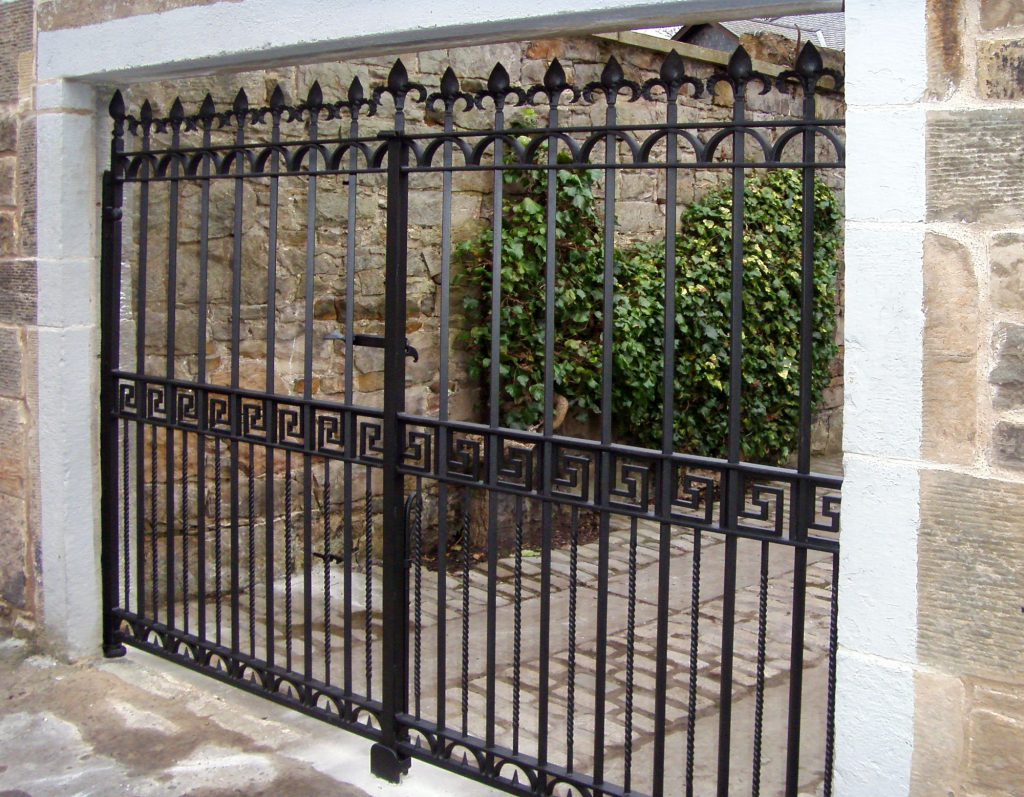 Greek key gates