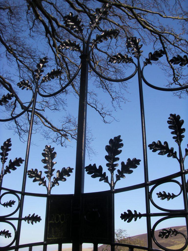 Oak leaf gate detail