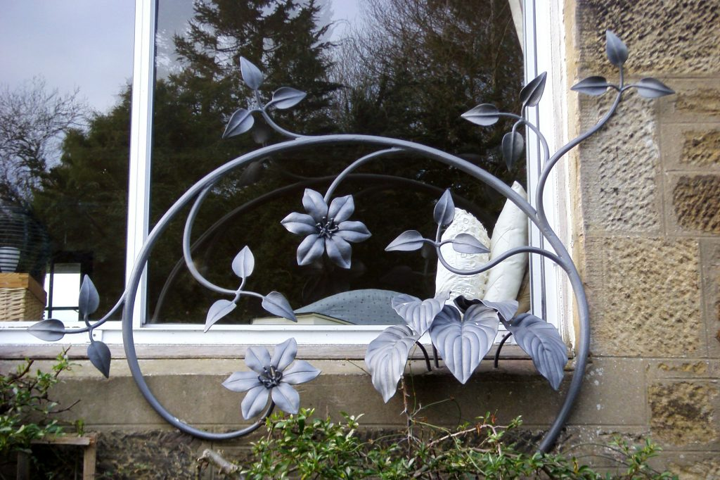 Standpretty Clematis and Hostas window guards