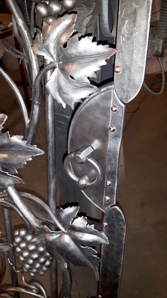 Wine cellar gate detail