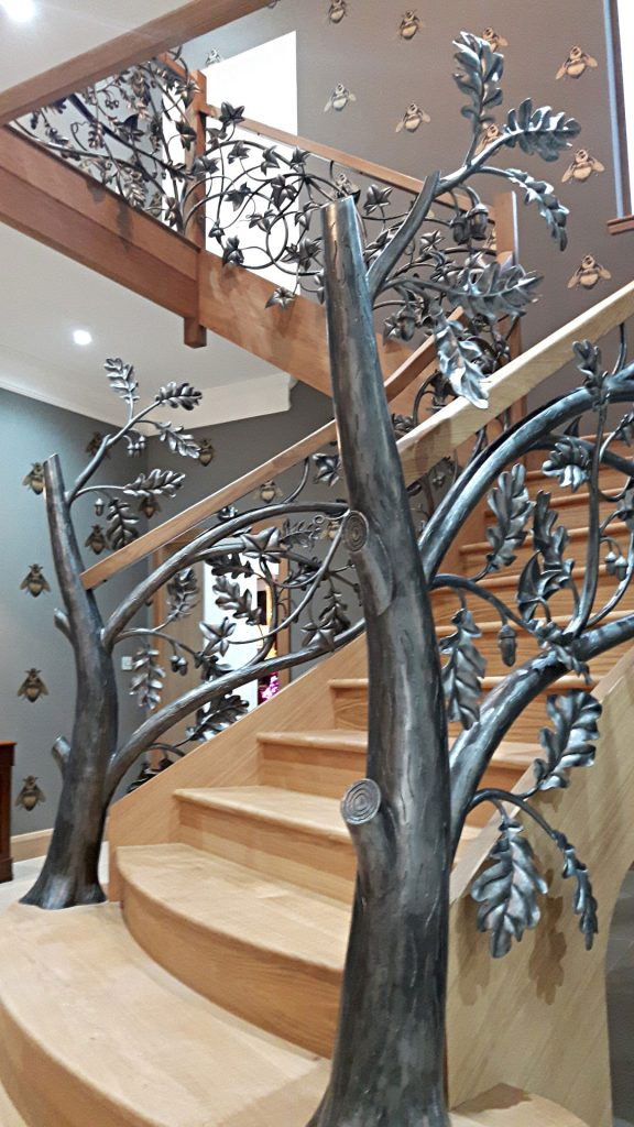 Woodland stair newel posts